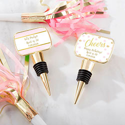 Personalized Gold Bottle Stopper - Birthday For Her