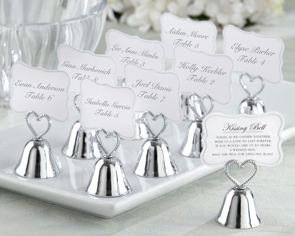 Kissing Bell Place Card Photo Holder Set Of 24