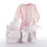 """Big Dreamzzz"" Baby Ballerina Two-Piece Layette Set in ""Studio"" Gift Box"