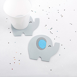 Elephant Coaster - Little Peanut (Blue)
