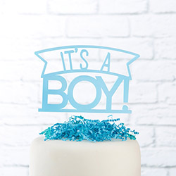 Its a Boy Acrylic Cake Topper