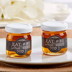 Personalized Clover Honey - Eat, Drink & Be Married (Set of 12)