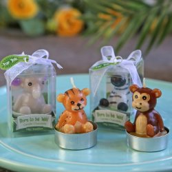 """Born to be Wild"" Animal Candles - Assorted (Set of 4)"