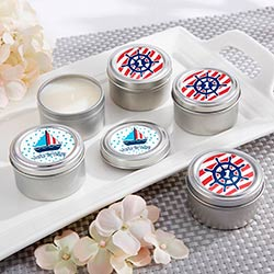 Personalized Travel Candle - Kates Nautical Birthday Collection