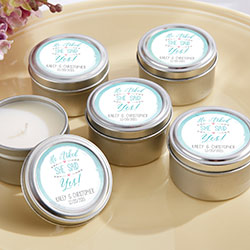 Personalized Travel Candle –He Asked, She Said Yes