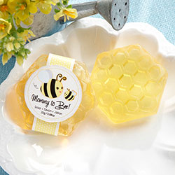 """Mommy To Bee"" Honey-Scented Honeycomb Soap"