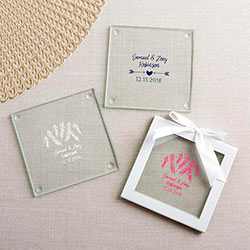 Personalized Glass Coasters - Winter (Set of 12)