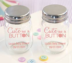 Cute as a Button Personalized Pad-Printed Mason Jar (Set of 12)