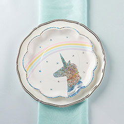 Enchanted Unicorn Paper Plates (Set of 8)