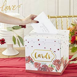 Burgundy Blush Collapsible Card Box