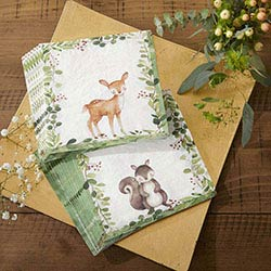Woodland Baby Paper Napkins (Set of 30)