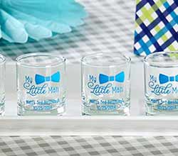 "Personalized ""My Little Man"" Printed Shot Glass/Votive Holder"