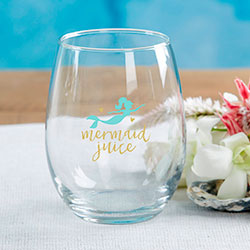 Seaside Escape 15 oz. Stemless Wine Glass (Set of 4)