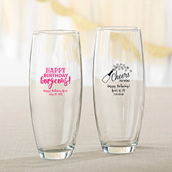 Personalized 9 oz. Stemless Champagne Glass - Birthday For Her