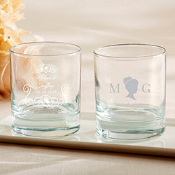 Personalized 9 oz. Rocks Glasses - English Garden